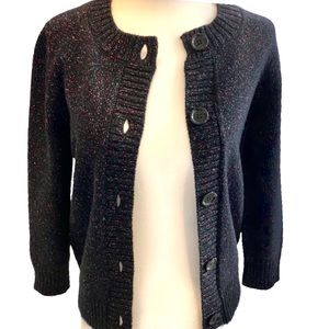 See by Chloe Sparkly Black Buttoned Open Cardigan Size 4